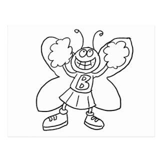 Butterfly Cheerleader Postcard