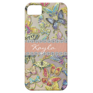 BUTTERFLY CHIC BLING CUSTOM I PHONE 5 SS CASE COVER FOR iPhone 5/5S