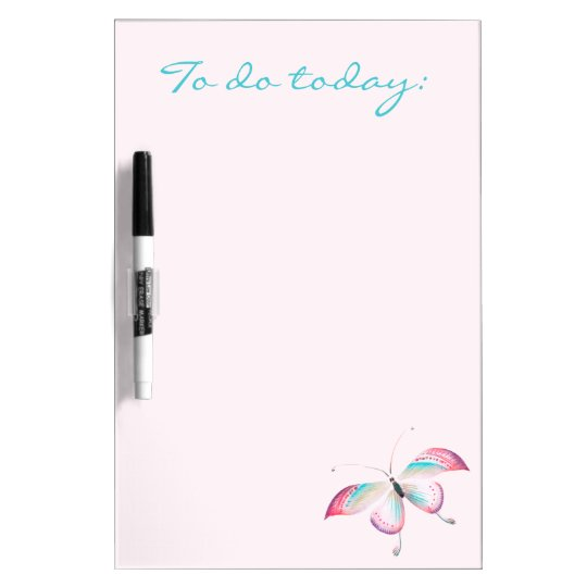 Butterfly Chinoiserie Dry Erase Board