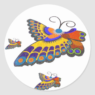Butterfly Classic Round Sticker