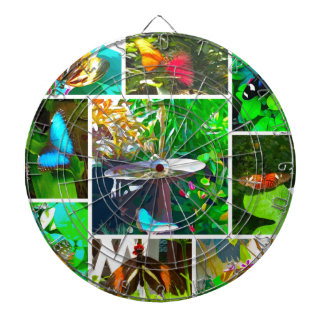 Butterfly Collage Dartboard