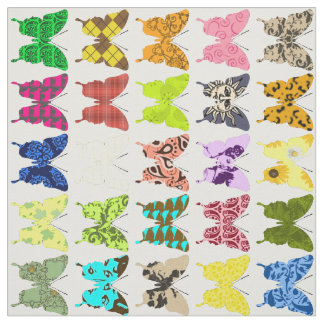 Butterfly Collage Fabric