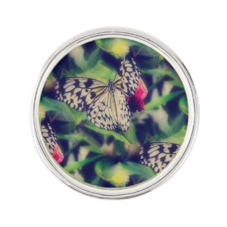 Butterfly Collage Lapel Pin