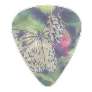 Butterfly Collage Pearl Celluloid Guitar Pick