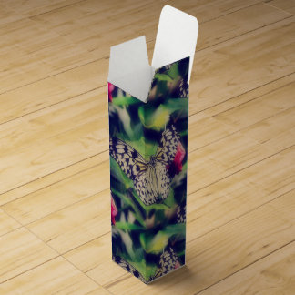 Butterfly Collage Wine Box