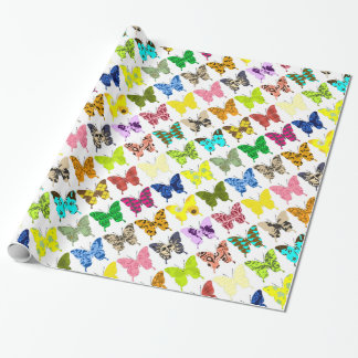 Butterfly Collage Wrapping Paper