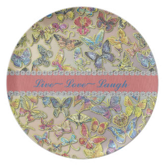 Butterfly Collector Inspiration Gift Plate