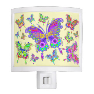 Butterfly Colorful Tattoo Style Nite Light