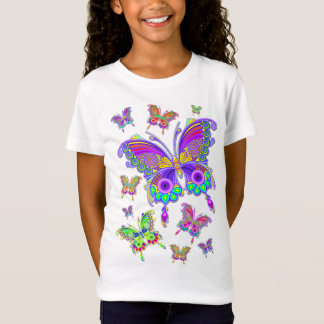 Butterfly Colorful Tattoo Style T-Shirt