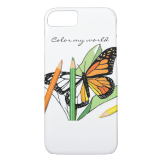 Butterfly coloring phone cover