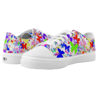 butterfly confetti low top ZIPZ Shoes
