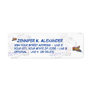 Butterfly Correspondence Return Address Label