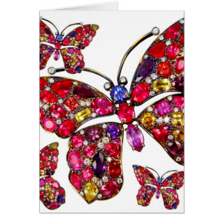 Butterfly Costume Jewelry Any Occasion Blank Note Card