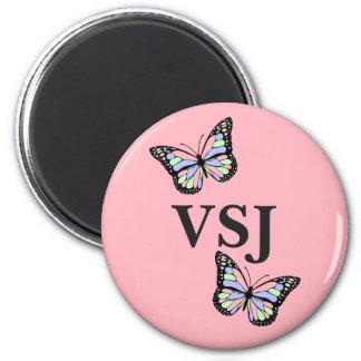 Butterfly Custom Monogram Magnet