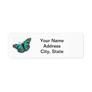 Butterfly Customizable Return Address Label