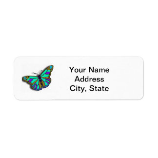 Butterfly Customizable Return Address Label