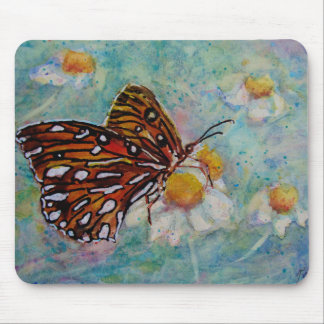 Butterfly Daisy Mouse Pad
