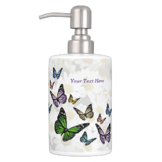 Butterfly Daisy Toothbrush Holder & Soap Dispenser