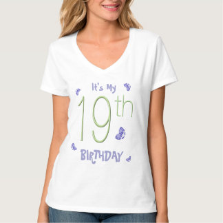 Butterfly Dance 19th Birthday Party T-shirts