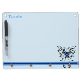 Butterfly Dance 2 Dry Erase Board With Keychain Holder