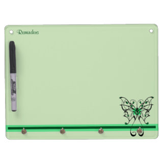 Butterfly Dance 3 Dry Erase Board With Keychain Holder