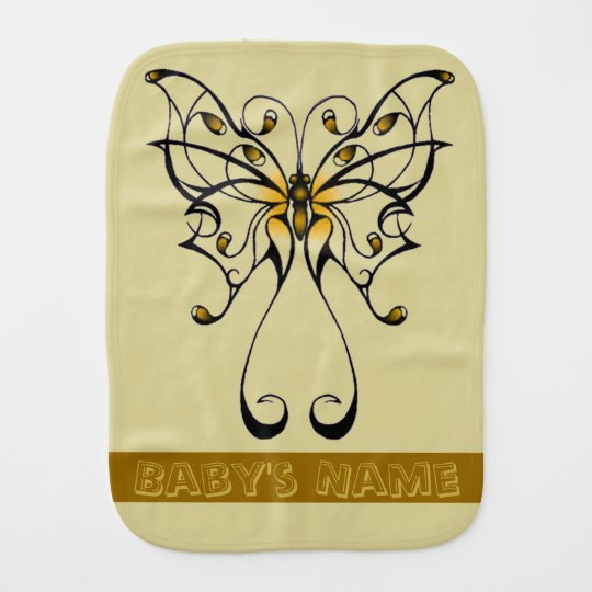 Butterfly Dance 4 Baby Burp Cloth