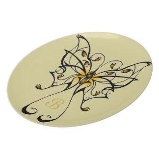 Butterfly Dance 4 Plates