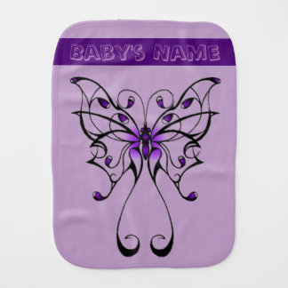 Butterfly Dance Burp Cloth
