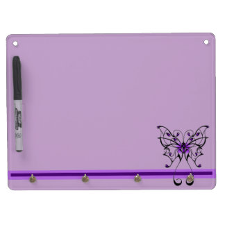 Butterfly Dance Dry Erase Board With Keychain Holder