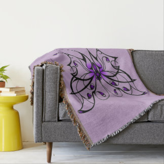 Butterfly Dance Throw Blanket