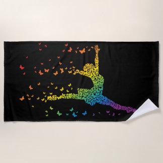 Butterfly Dancer Beach Towel