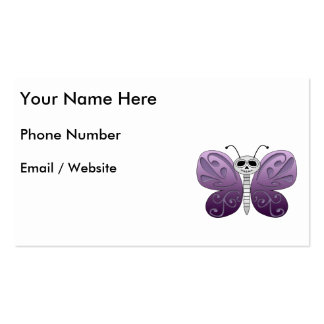Butterfly Day of the Dead Design Pack Of Standard Business Cards