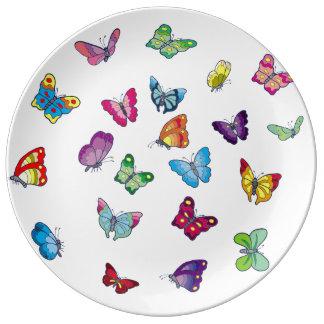 Butterfly Decorative Porcelain Plat Plate
