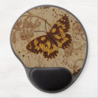 Butterfly, decoupage technique gel mouse pad
