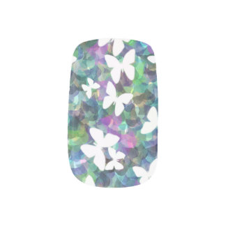 Butterfly Design False Nails Minx Nail Art