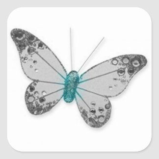 Butterfly Design Square Sticker
