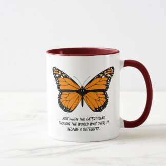 Butterfly Design With Quotes About Life Mug