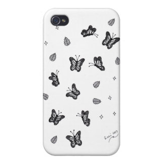 Butterfly Doodle 1 iPhone 4/4S Covers
