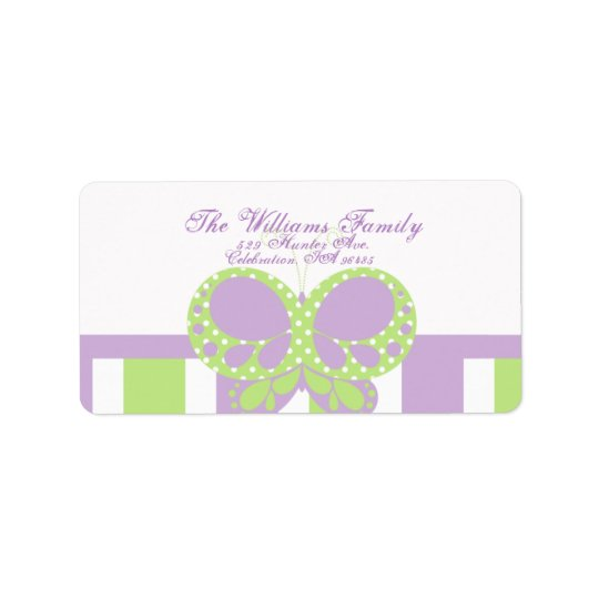 Butterfly Dots Address Label
