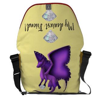 Butterfly Dragon Messenger Bag 3