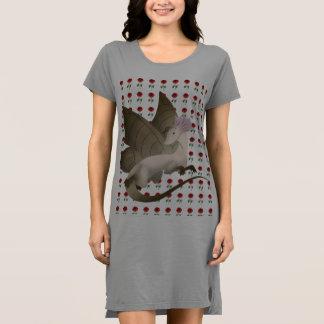 Butterfly Dragon T-shirt Dress Roses