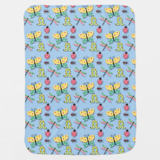 Butterfly Dragonfly Lady Bug Blanket for Nursery