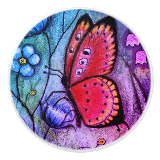 """""""Butterfly Dream"""" Ceramic Knob"""