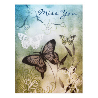 Butterfly Dream - Miss You Postcard
