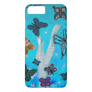 Butterfly Dreaming Blue iPhone 7 Case