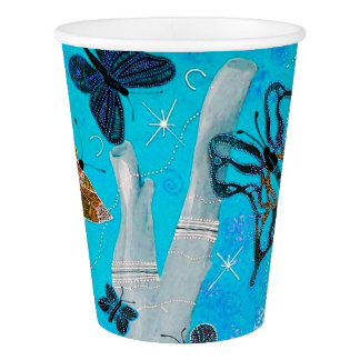 Butterfly Dreaming Paper Cup, 9 oz Paper Cup