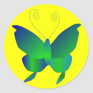 Butterfly Dreams Classic Round Sticker