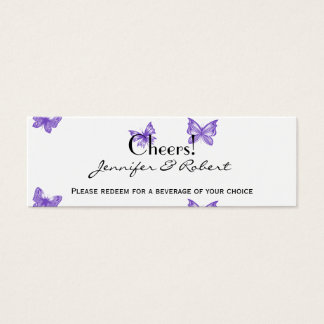 Butterfly Dreams: Violet Wedding Drink Tickets