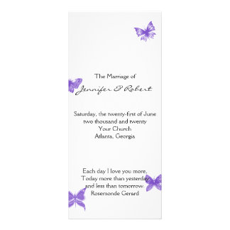 Butterfly Dreams: Violet Wedding Program