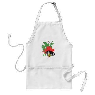 Butterfly Drinking Nectar Standard Apron